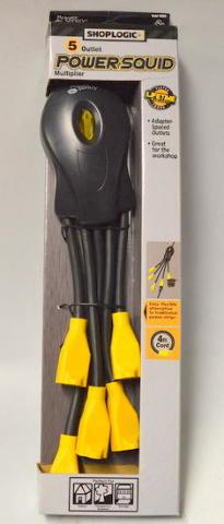 Shoplogic 5 outlet powersquid multiplier 4 39 power cord surplus trading corporation - Electrical outlet multiplier ...