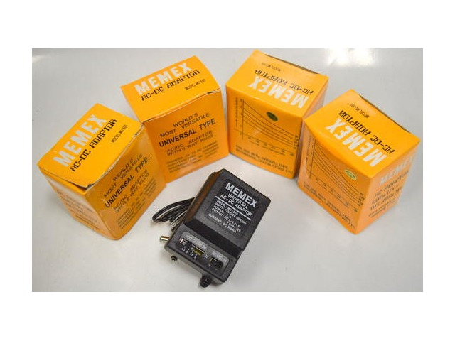 MEMEX Universal AC-DC  Adaptor, MU500 - 6 way plug.  Lot of 4.
