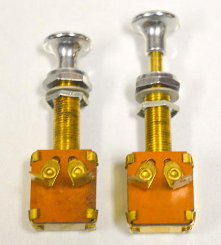 "2 pc - Push/Pull - On/Off Long neck switch - Pulled up 3 1/8"" - Pushed down 2 3/4"""
