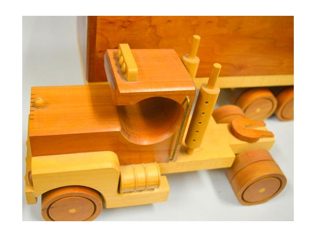 Craftsman Hand made wooden Semi Truck - Used as a Demo