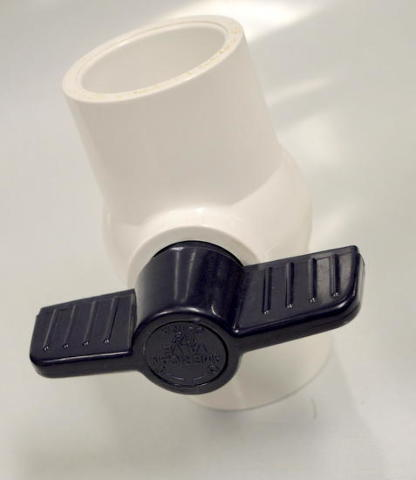 """1 1/2"""" PVC  Inline Ball Valve by American #P200S"""