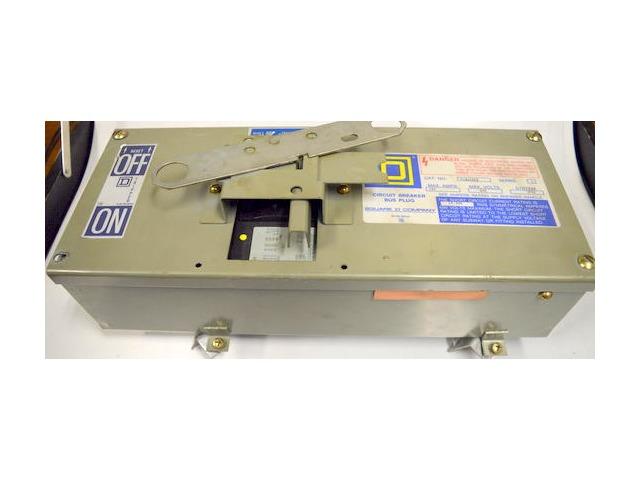 Square D #PON100FA Series 4, Circuit Breaker Bus Plug.100 Max A, 600 Max V-3P4W