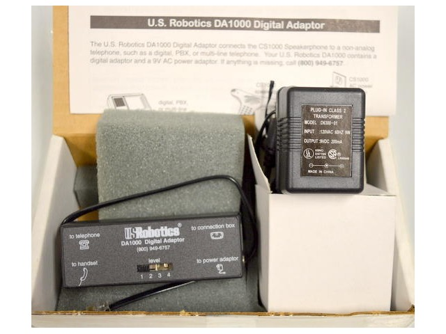 U.S. Robotics DA1000 Digital Adaptor w / CS1000 AC Adaptor.