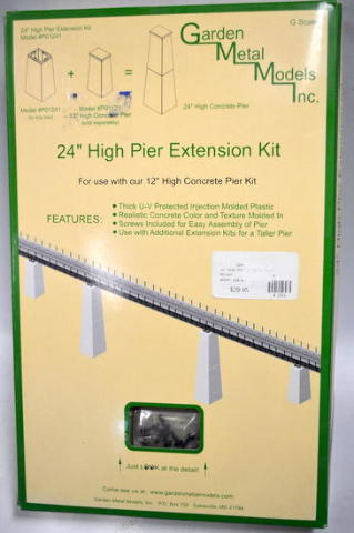 "Garden Metal Models #PO1241-G scale  24""High Pier Extension Kit for Model Trains."