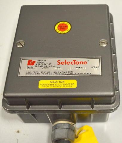 Federal Signal Seletone 300TAR  Module 24v, 60 DC .120 / .50 Amps Series A1