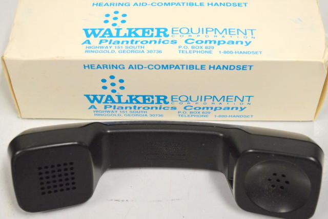 Hearing Aid-Compatible Handset by Walker Equipment - Black