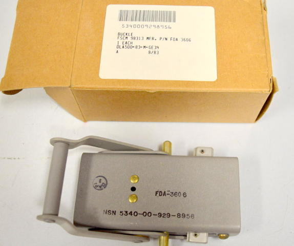 Buckle - NSN5340-00-929-8956 Fastening device used to join 2 ends of a belt or strap