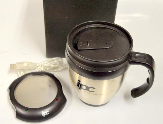 USB Coffee Mug and Warmer - plug into your computers USB!