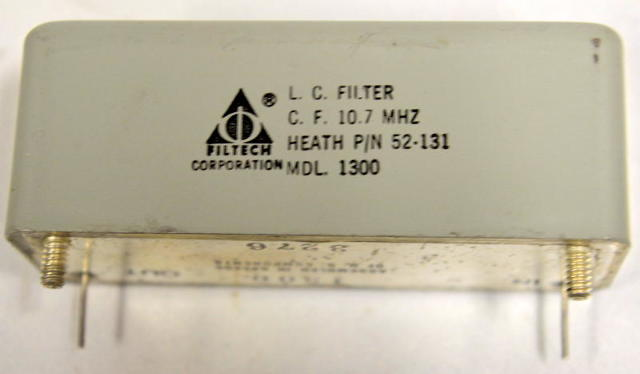 L.C Filter-C.F 10.7 MHZ - Heath P/N 52-131 MDL. 1300 - Filtech Corp. New old stock.