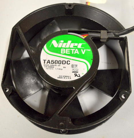 Nidec Beta V TA500DC 12VDC 1.7Amp Cooling Fan - 6 x 6 1/2 x 2 thick - new old stock