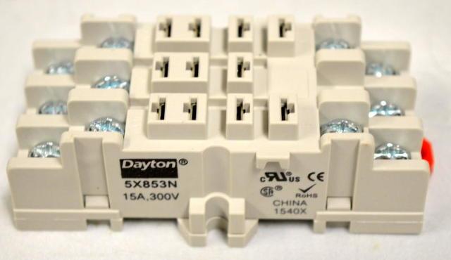 Dayton #6853N - 11 Pin, 15A, 300 V Socket Relay.