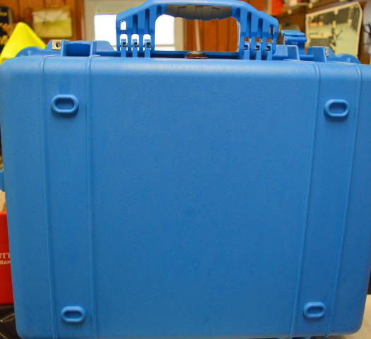 Pelican #1600 Waterproof Case - Blue - No foam-no original box.