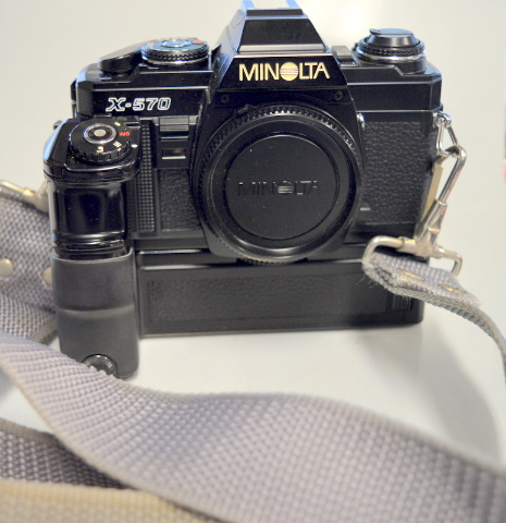 Minolta X-570 SLR Film Camera with Auto Winder  with strap