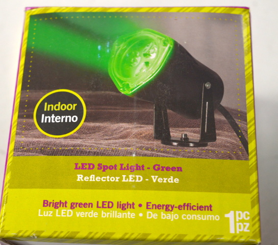 LED Green Spotlight for Indoors. Bright green LED light - Energy Efficient.