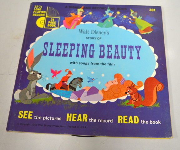 Walt Disney's Story of Sleeping Beauty - Story and 33 1/3 record. See-Hear-Read.