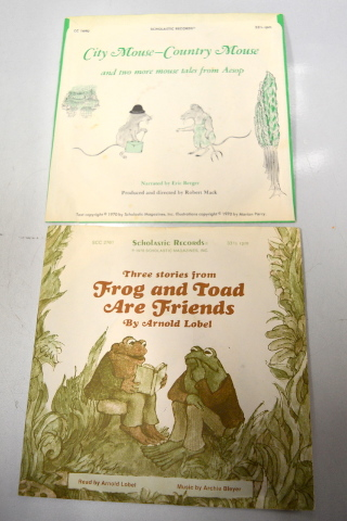 Scholastic Records - 33 1/3 RPM -1970 - Frog & Toad Are Friends / City Mouse