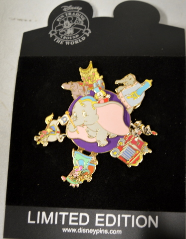 Disney LE500  Dumbo Circus Parade Spinner - Jumbo Pin.