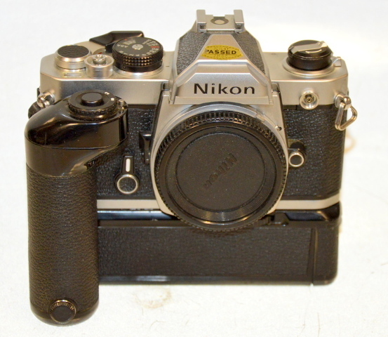 Nikon FM Silver Camera Body w/ Nikon MD-12 - From an estate.
