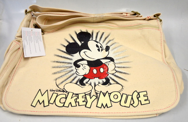 Disney Mickey Mouse Laptop Computer/Messenger Canvas Shoulder Bag - Tan