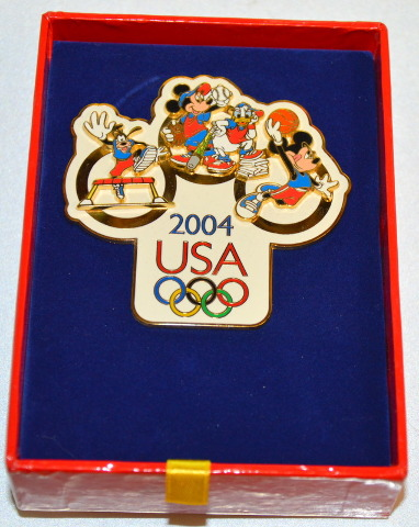 Disney Mickey Mouse Summer 2004 Olympic Jumbo Pin