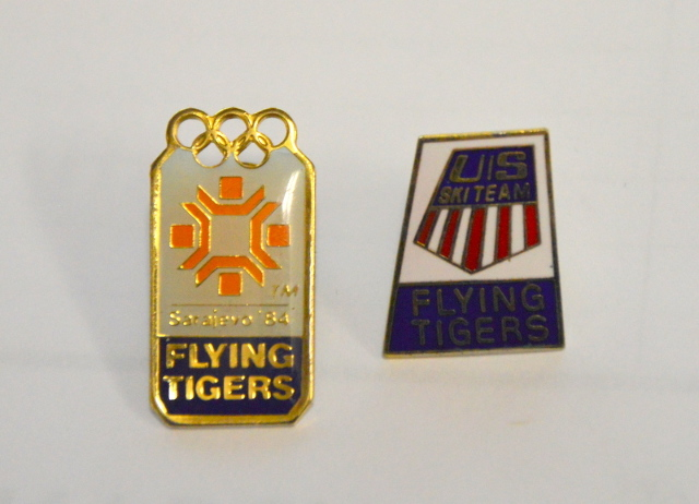 1984 Sarajevo Olympic Pins - Flying Tigers Olympic Pins. 2 pcs.