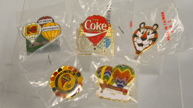 Vintage Hot Air Balloon Pins from Battle Creek, Mi. - 5 Pins.