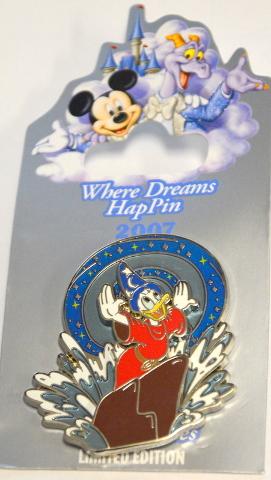 Disney Where Dreams HapPin Sorcerer Donald Duck LE750