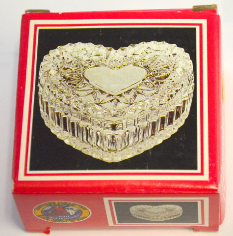"Hofbauer Collection ""Heart Box"" - Lead Crystal - Trinket Dish"