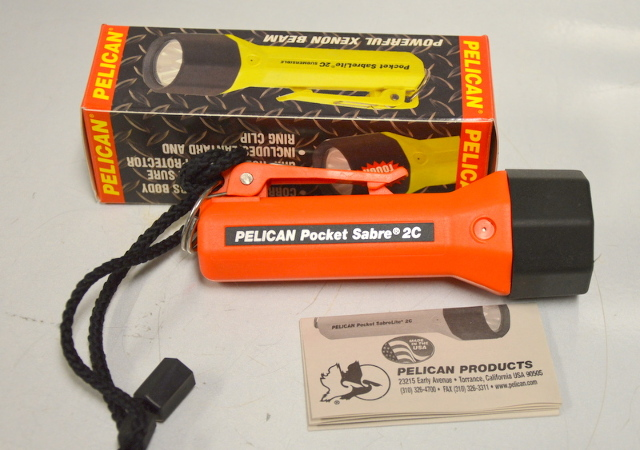 Pelican Pocket SabreLite 2C #1820B - Orange - Submersible to 500 feet. Demo