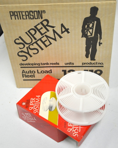 Patterson Super System 4 Developing Tank Reels - Auto Load- Box of 12
