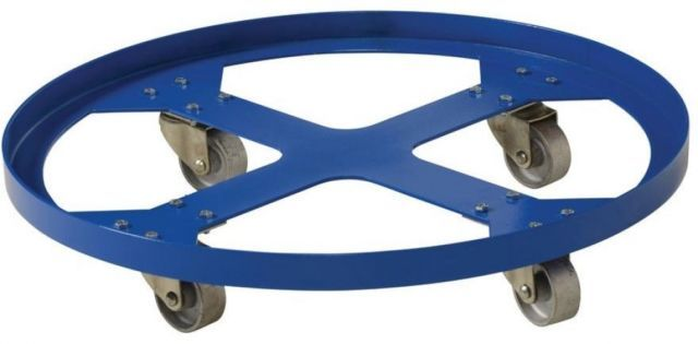 Vestil 32 in 1200 Lb. Overpack Drum Dolly Durable Industrial Construction Caster