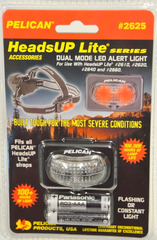 Pelican #2625 Dual Mode LED Alert Light for use with HeadsUP Lite:2610,2620,2640