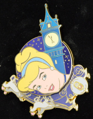 Disney Cinderella Clock Tower Spinner Pin LE500  #00811