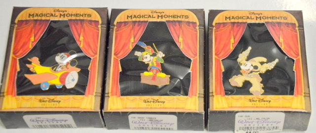 Set of 3 Disney Magical Moments Pins with Mickey Mouse. #22491
