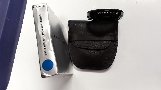 Hasselblad 50  Polarizing Filer for 500EL/M, 500C/M, 2000FC w/ case-new old stock.