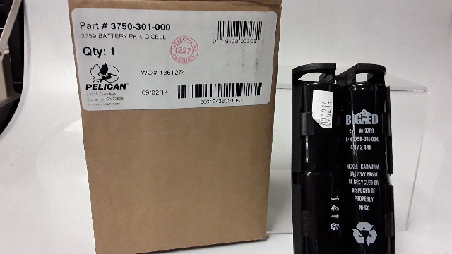 Pelican 3759 Rechargable battery for Big Ed Flashlight - New Old Stock