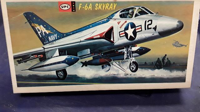 Vintage UPC Model Aircraft F-6A SKYRAY #5068-100 1/50 /Scale