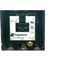Copeland 012-3050-00   3 Pole - 50 Amp - 24 V - Series A1 - 50/60 Hz -  Used