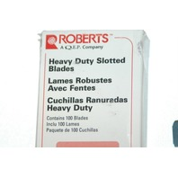 Roberts - Heavy Duty Slotted Blades - 100 Pieces -  No. 10-438