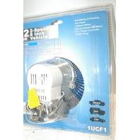 12V - 2 Speed - 8 inch - Vehicle Fan made for Grainger Intl. - New