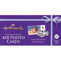 Hallmark Premium Blank 4x8 Photo Cards and Envelopes with software.