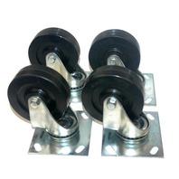 """4"""" x 1 1/4"""" Swivel Casters set of 4 - Polyolenfin wheel Knaack # 444.- New"""