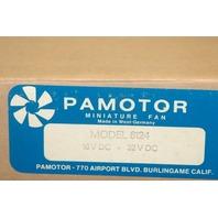 Pamotor Miniature Fan model 6124 16v DC, 32V DC. New