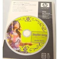 HP CD/DVD Tattoos (15 sheets) - Lables. #Q8046A