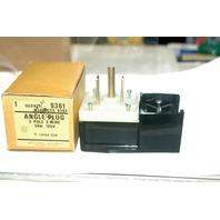 Hubbell Angle Plug #9361 3 Pole, 3 Wire,  50A - 125V.