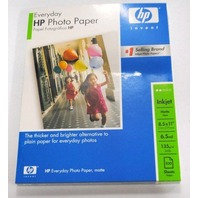 """HP Everyday 8.5""""x11"""" Matte Photo Paper - 100 sheets - New"""