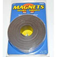 """Flexible Magnetic Tape with Adhesive 1""""x10' New #07019"""