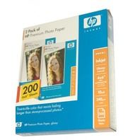 "HP Premium Photo Paper-200 Sheets-Glossy -4""x6"""