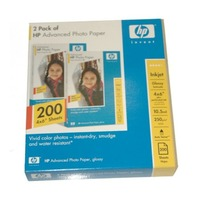 HP Advanced 4x6 Photo Paper, Glossy #Q8744A 200 sheets!