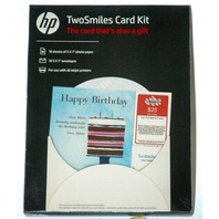HP TwoSmiles Card Kit SF788A  10 - 5x7 photo paper with envelopes 5 packs per case